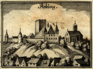 Counts of Falkenstein (Bavaria) - Hofberg in Aibling, castle and administrative seat of the Falkenstein counts