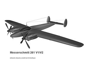 Messerschmitt Me 261 - 3D-model of the Me 261