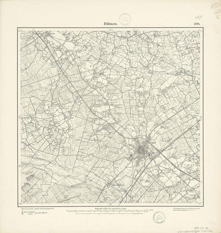 file:messtischblatt 4109 duelmen 1897 - wikimedia commons, Esstisch ideennn