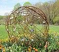 Metal rod & rock sculpture - Meadowlark Botanical Gardens (3478320498).jpg