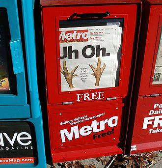 Metro Newspapers - A Metro Newspapers news rack