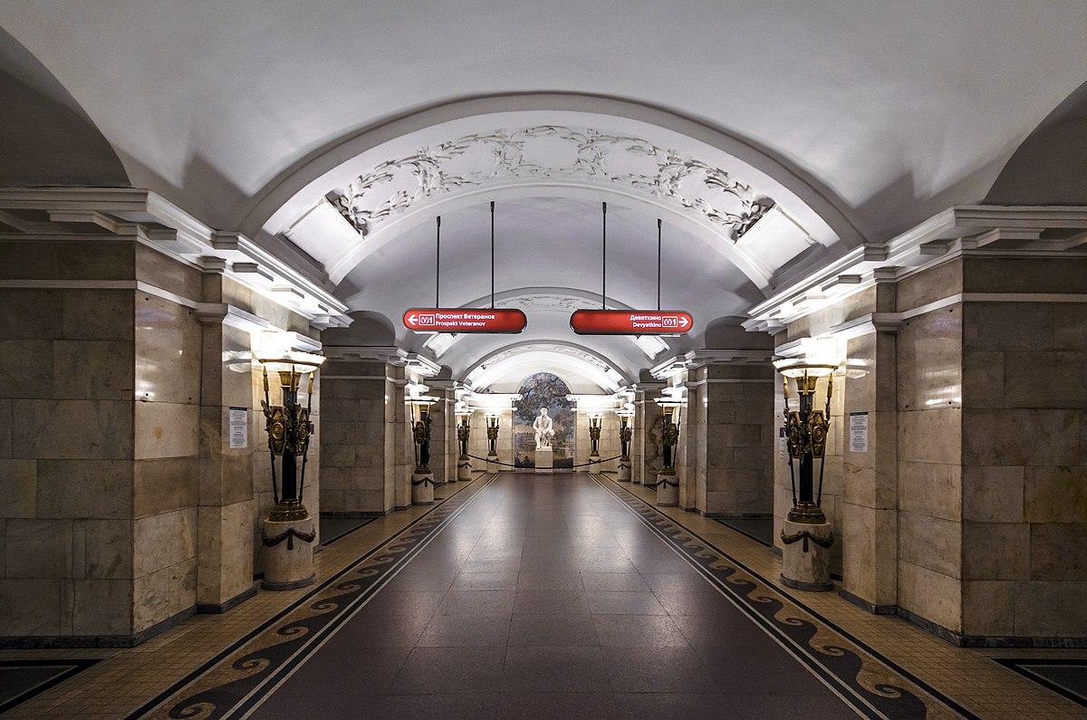 схема подземного перехода метро ленинский проспект спб