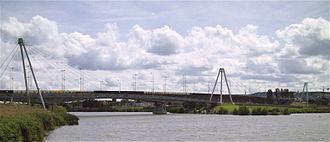 Tomblaine - The Concorde Bridge linking Tomblaine with Nancy