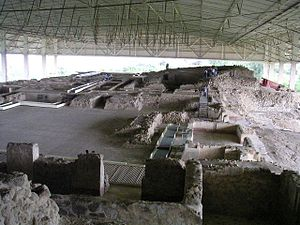 Tlaxcala - View of the ruins at Cacaxtla