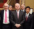 Michael Howard William Hague and Yasuhisa Shiozaki cropped 3 William Hague and Members of the UK-Japan 21st Century Group 20130502.jpg