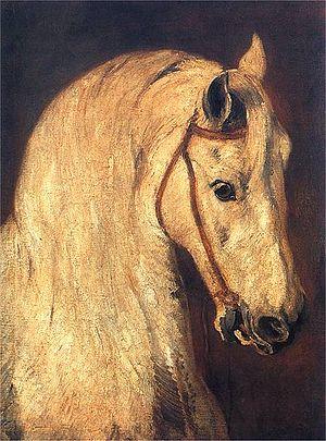 Piotr Michałowski - Glowa Konia, study of horse's head, Piotr Michałowski, 1846