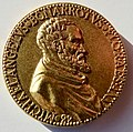 Michelangelo 88th Birthday Medal by Leone Leoni gilt Æ- 19th Century Electrotype, obverse.jpg