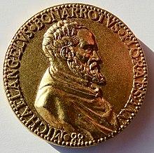 undatierte medaille 1563 von leone leoni auf michelangelos 88 geburtstag vorderseite - Michelangelo Lebenslauf