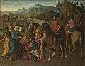 Michele da Verona (c.1470-1536-1544) - Coriolanus persuaded by his Family to spare Rome - NG1214 - National Gallery.jpg