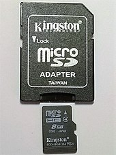 Micro SD card with micro SD card adapter