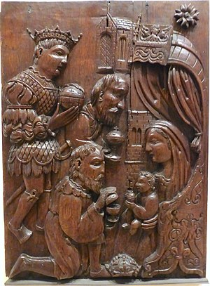 Scottish Reformation - A mid-16th-century oak panel carving from a house in Dundee. It is an example of art lost in the iconoclasm of the Reformation.