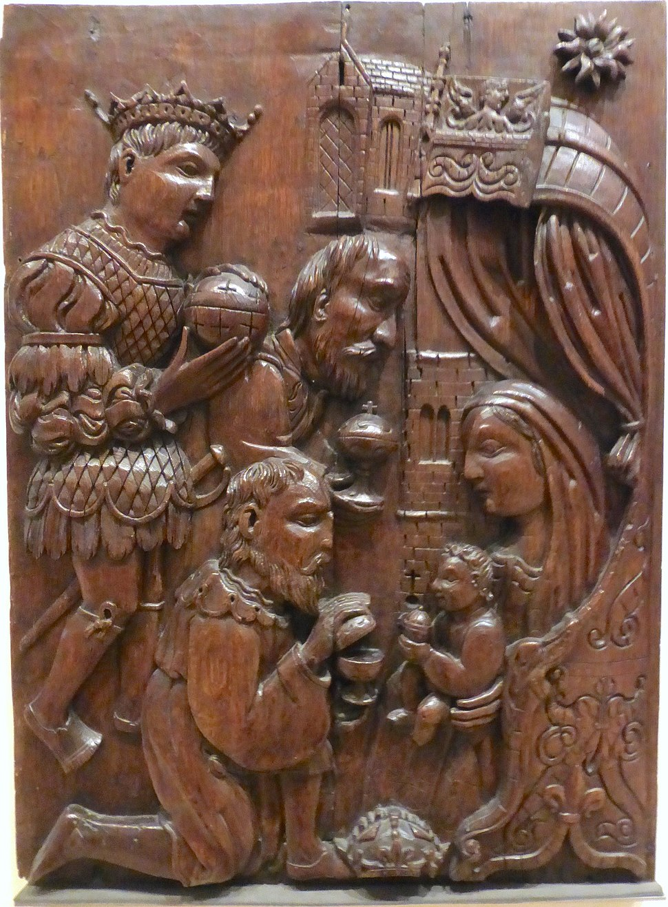 Mid-16thC Adoration of the Magi panel, Dundee