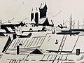 Miensk, Čyrvony kaścioł. Менск, Чырвоны касьцёл (A. Astapovič, 1928).jpg