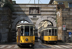 Trams in Milan - Image: Milano tram piazza Cavour