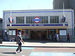 Mile End tube stn entrance 2012.JPG