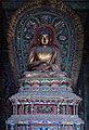 Ming era statue of Ratnasambhava (寶生如來 or 宝生如来 Bǎoshēng Rúlái), one of Five Tathagathas (五方佛 Wǔfāngfó) or Five Wisdom Buddhas (五智如来 Wǔzhì Rúlái) at Huayan Temple (华严寺), Shanxi, China.jpg