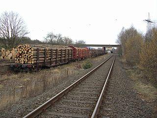 Flat wagon Railway goods wagon