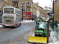 Mini tractor with snow plough , Market Street, Halifax - geograph.org.uk - 1735034.jpg