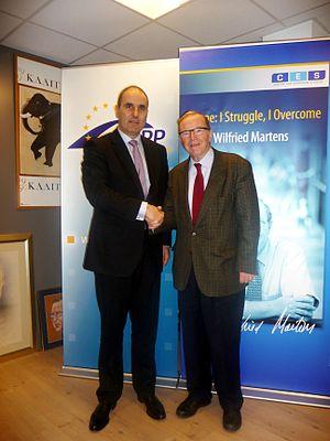 Tsvetan Tsvetanov - Minister Tsvetanov, meeting with Wilfried Martens, 2012