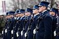 Ministru prezidents Valdis Dombrovskis vēro Nacionālo bruņoto spēku vienību militāro parādi 11.novembra krastmalā (6357768573).jpg