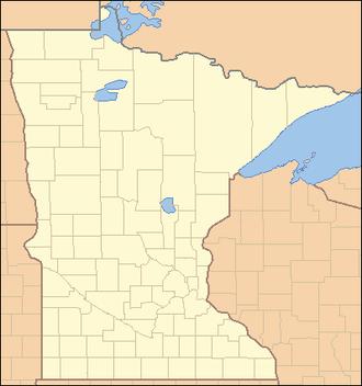 Blueberry River (Minnesota) - Image: Minnesota Locator Map