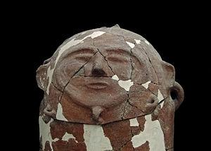 Moab - Moabite sarcophagus in Jordan Archaeological Museum in Amman