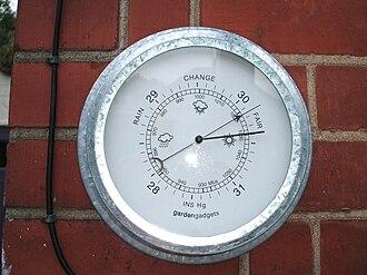 Barometer - Modern aneroid barometer