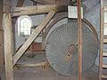 Molen De Prins van Oranje, Bredevoort maalkoppel opengelegd loper steenkraan (1).jpg