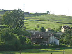 View of El Molín, one of the neighbourhood of the parish of Molleda, Corvera d'Asturies).