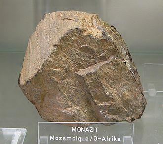 Group 3 element - Monazite, the most important lutetium ore