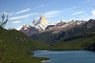 Laguna del Desierto incident - Lago del Desierto, with Mount Fitz Roy (Cerro Chaltén) in the background.