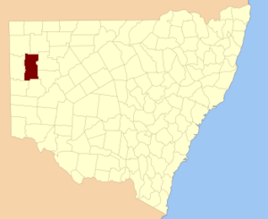 Mootwingee County - Location in New South Wales
