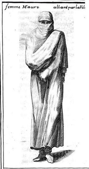 François Pidou de Saint Olon - Moroccan woman in Estat présent de l'empire de Maroc, 1694.