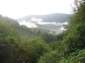 Вид на горы Морван