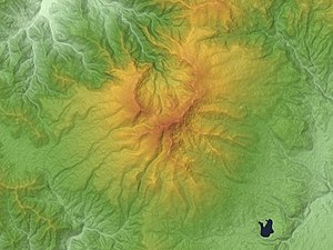 Mount Azumaya - Relief Map