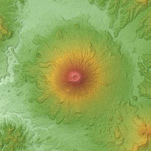Mount Yōtei - Relief map of Yotei volcano.
