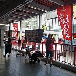 Mr Leung Kwok Hung May 2019 booth outside Tsuen Wan Station.jpg