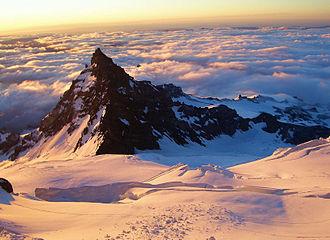 Little Tahoma Peak - View of Little Tahoma Peak from Ingraham Glacier