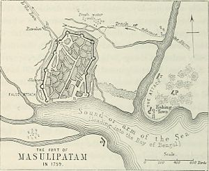 Machilipatnam - Masulipatam port in 1759
