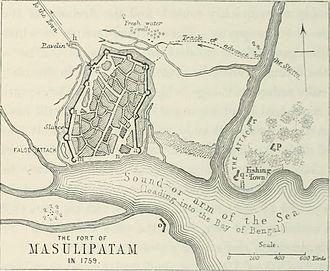 Machilipatnam - Masulipatam port in 1759