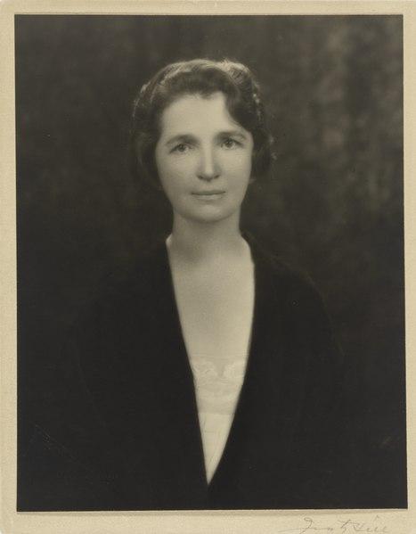 Black and white portrait of Margaret Sanger