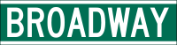NYCDOT Broadway Sign.svg
