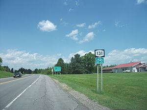 New York State Route 131 - NY 131 westbound through Massena