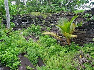 English: Nan Madol ruins in Pohnpei