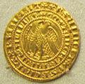 Napoli, costanza e pietro d'aragona, pierreale d'oro, 1282-85.jpg