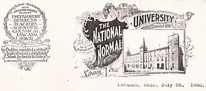 Letterhead - Image: National Normal University, Lebanon, Ohio