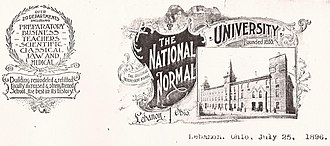Letterhead - Image: National Normal University, Lebanon, Ohio