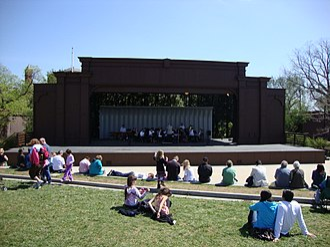 National Sylvan Theater - MIT Concert Band performs at the National Sylvan Theater in 2011