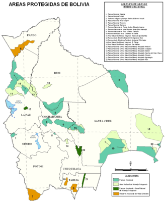 Isiboro Sécure National Park and Indigenous Territory - Image: National parks of bolivia