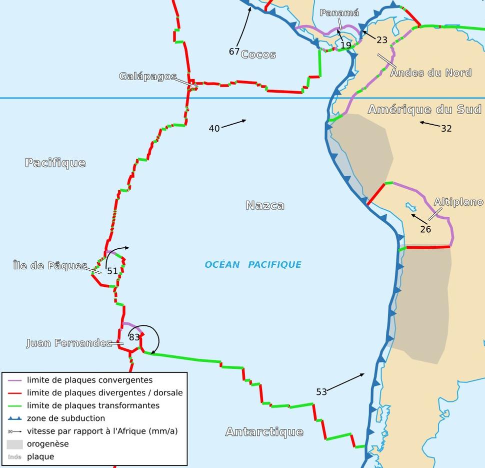 Nazca Plate map-fr